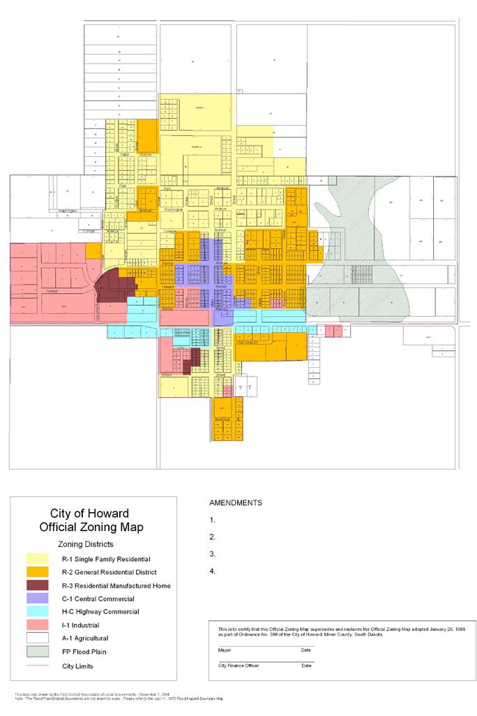Maps City of Howard South Dakota